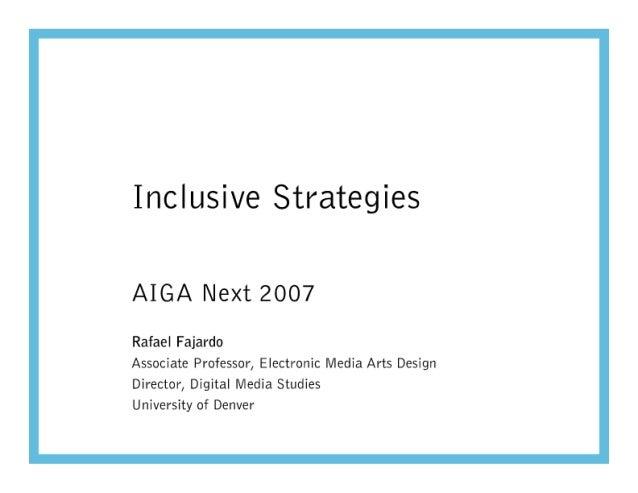 Fajardo AIGA Next 2007