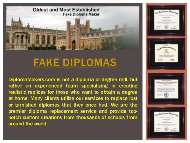 Fake diploma maker for Fake certificates maker