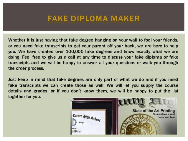 Hypothesis for Fake certificates maker