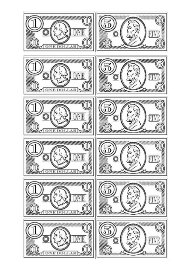 money coloring pages for preschoolers - photo#31