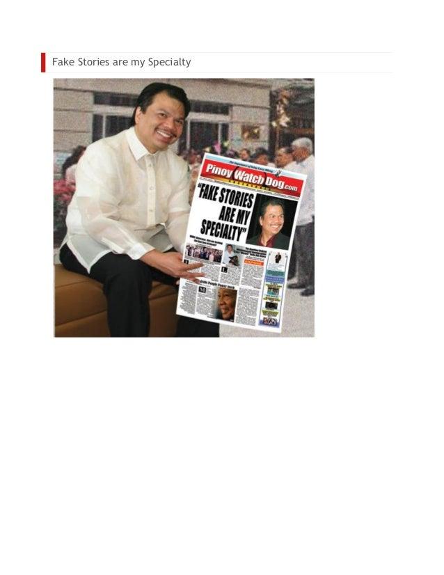 Rhony Laigo PinoyWatchDog.com Luchie Mendoza Allen Fake stories are my specialty