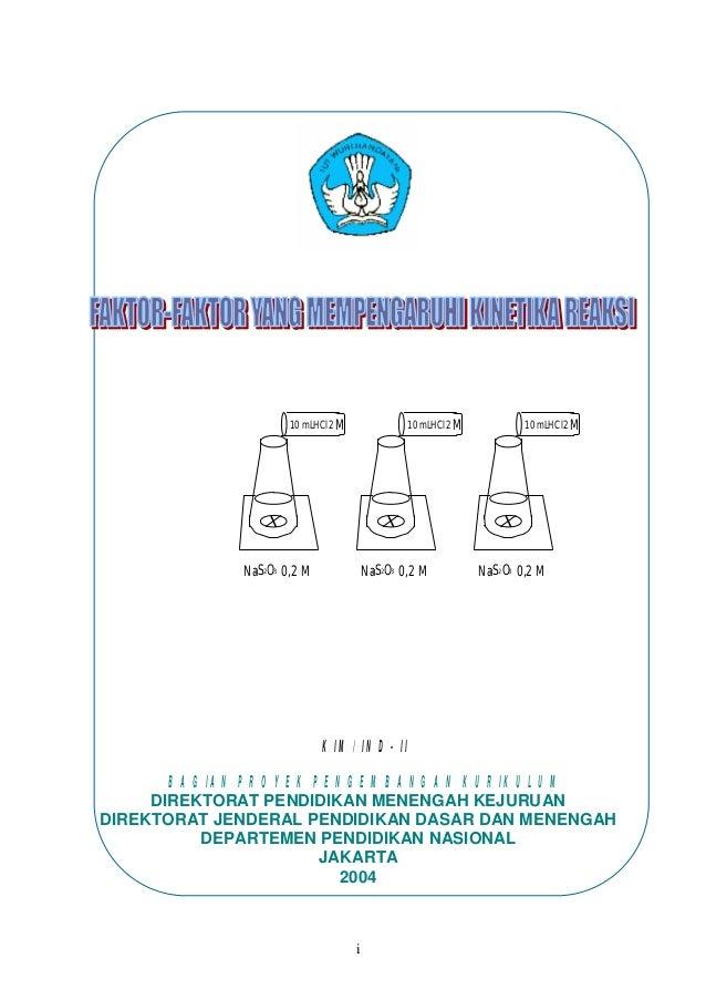 i 10 mLHCl2 M Na2S2O3 0,2 M 10 mLHCl2 M Na2S2O3 0,2 M 10 mLHCl2 M Na2S2O3 0,2 M KIM/ IND- II BAGIAN PROYEK PENGEMBANGAN KU...