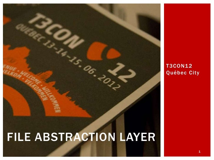 The File Abstraction Layer in TYPO3 6.0