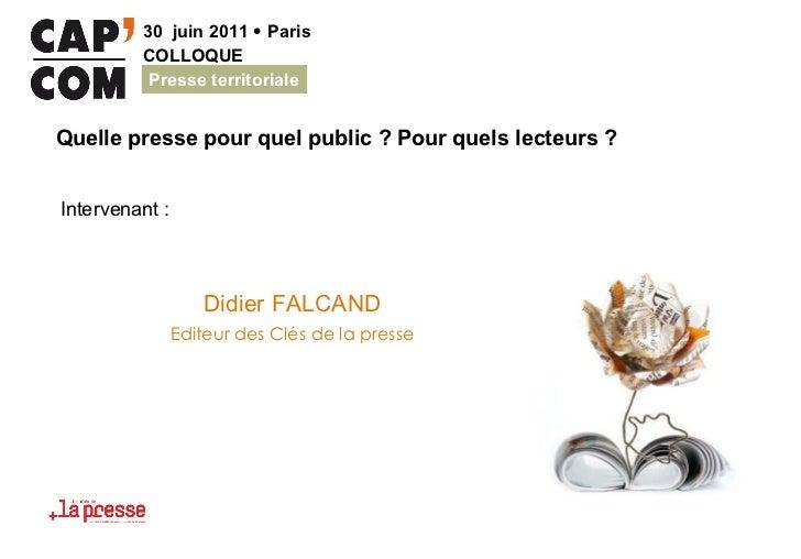 Didier FALCAND Editeur des Clés de la presse