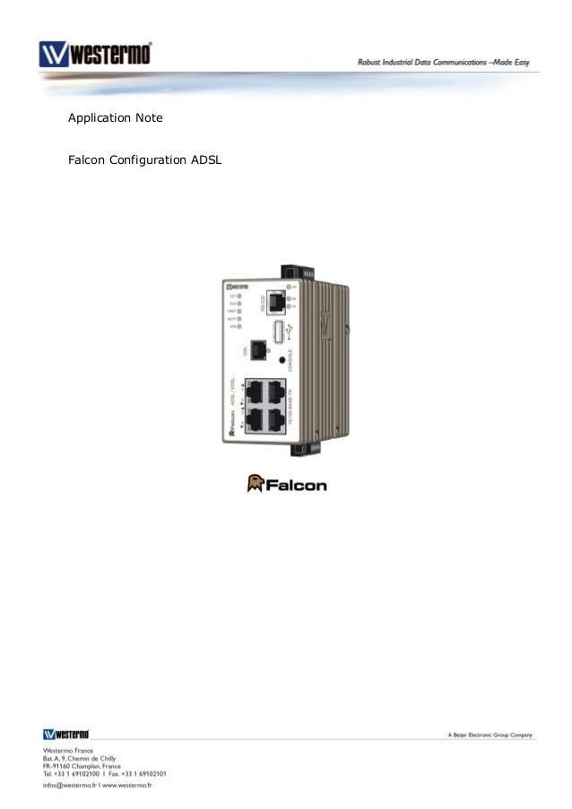 Application Note Falcon Configuration ADSL