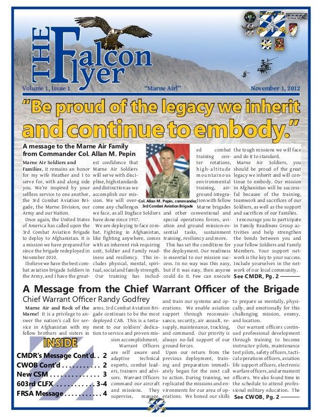 the              F  Volume 1, Issue 1                         alcon                        lyer                         ...