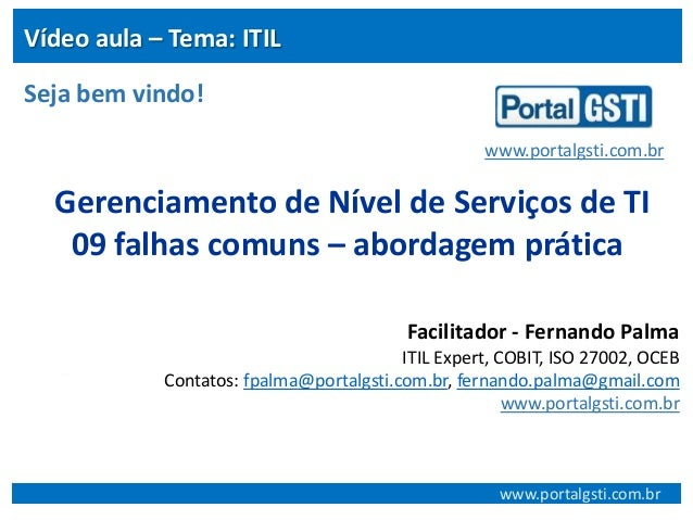 09 Falhas comuns no gerenciamento de nìvel de serviços ITIL