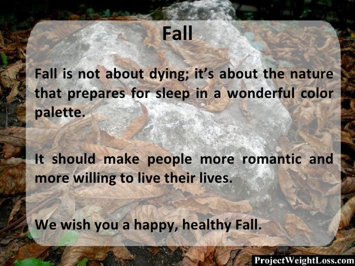 Fall <ul><li>Fall is not about dying; it's about the nature that prepares for sleep in a wonderful  color palette . </li><...
