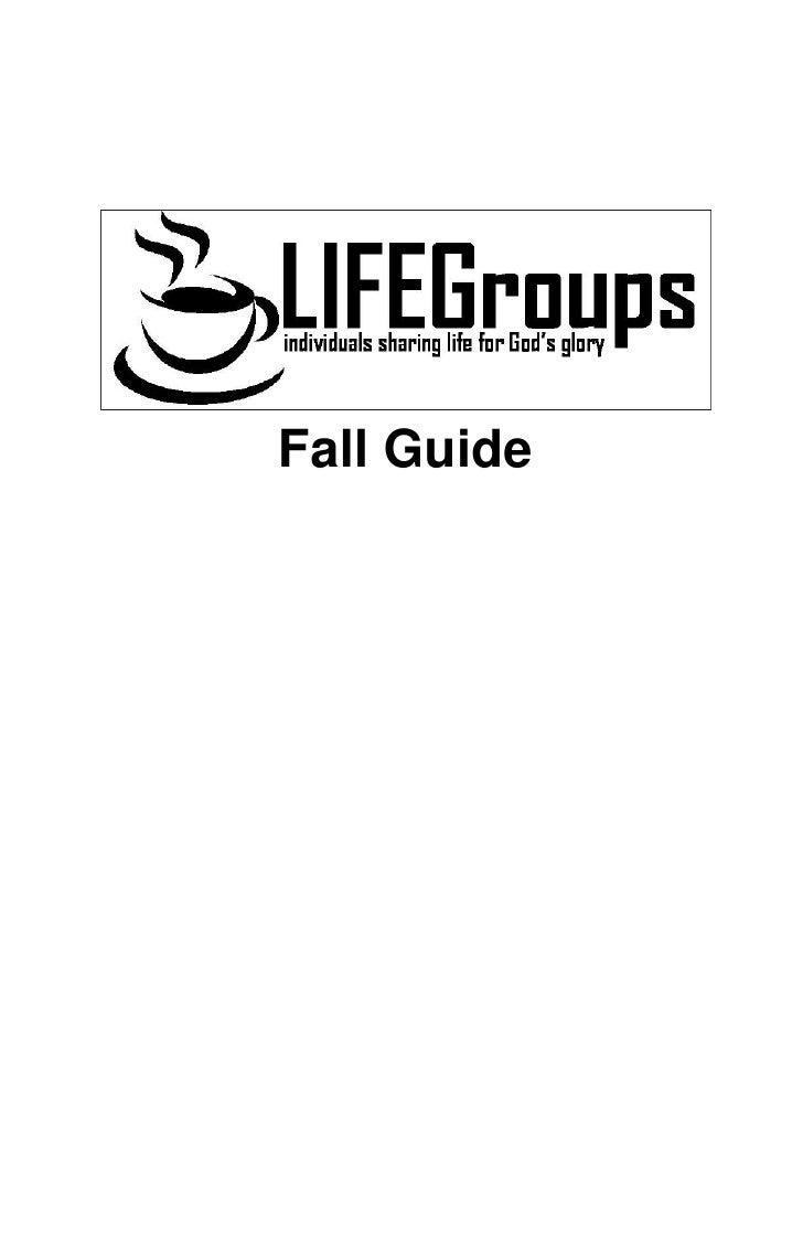 Fall LIFEGroup Guide