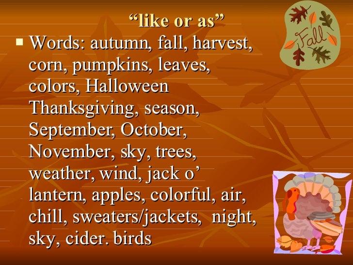Fall Similes