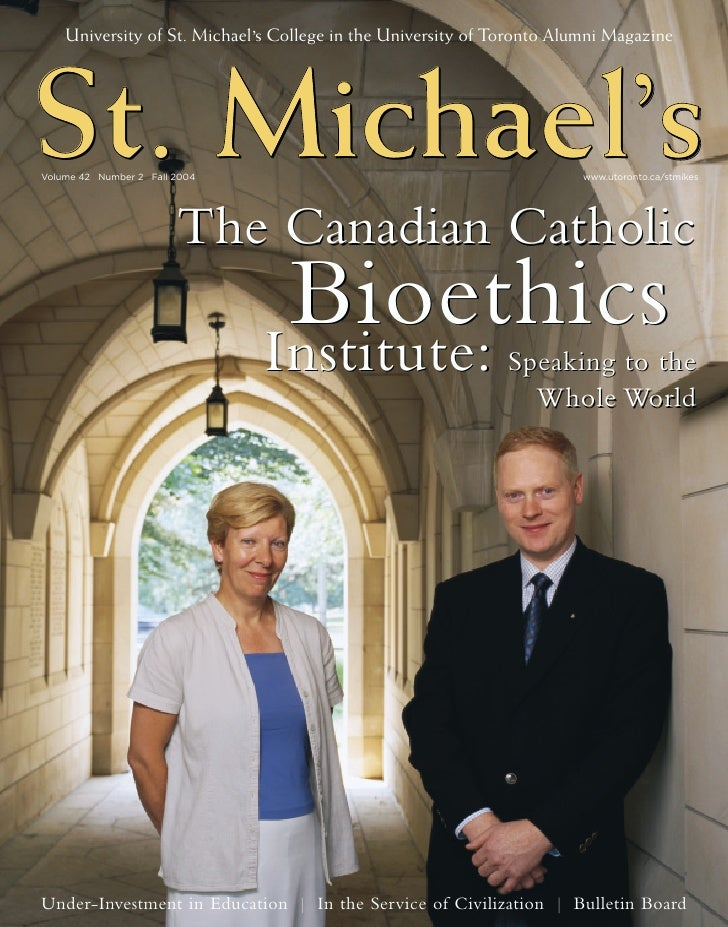 University of St. Michael's College in the University of Toronto Alumni Magazine     St. Michael's     Michael's     Micha...