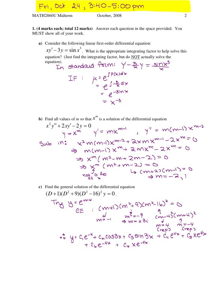 Fall 2008 midterm solutions