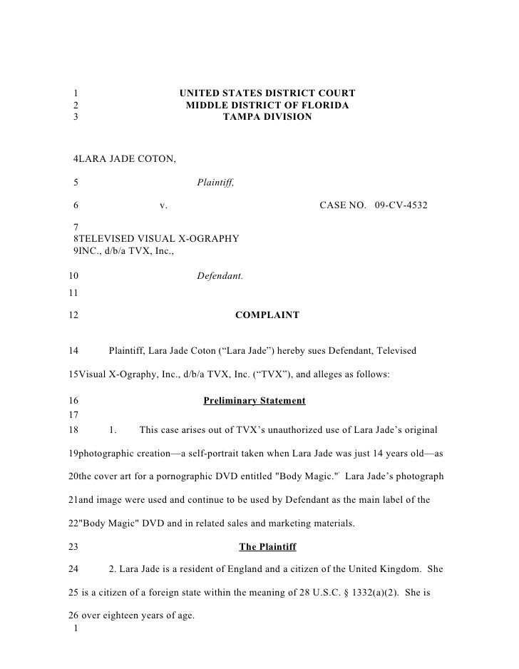 1                        UNITED STATES DISTRICT COURT 2                         MIDDLE DISTRICT OF FLORIDA 3              ...