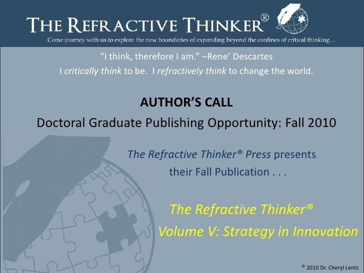 Fall 2010 Authors Call