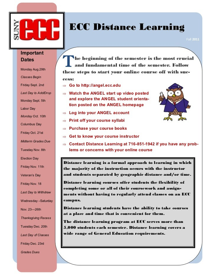 Distance Learning Newsletter-Fall 2011