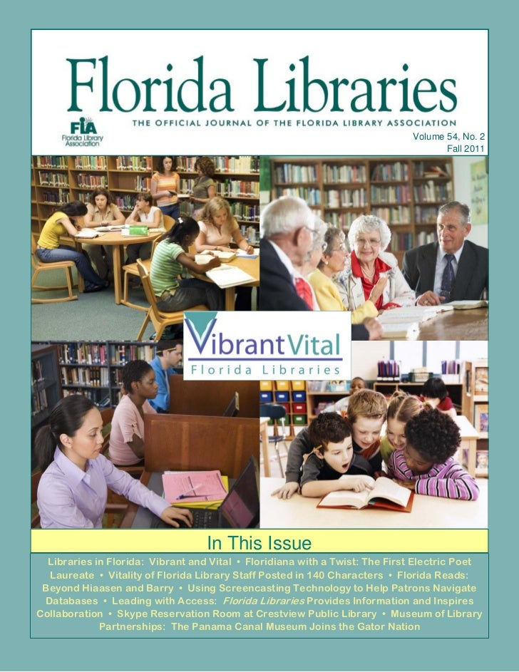 "Fall 2011 Issue of ""Florida Libraries"""
