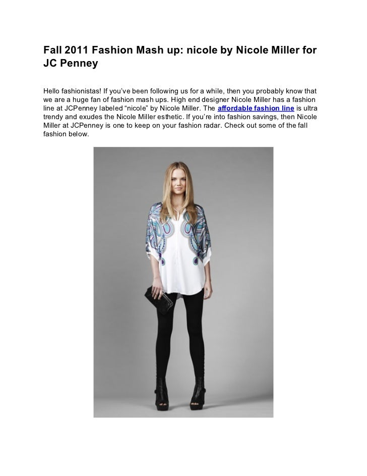 Fall 2011 fashion mash up nicole by nicole miller for jc penney