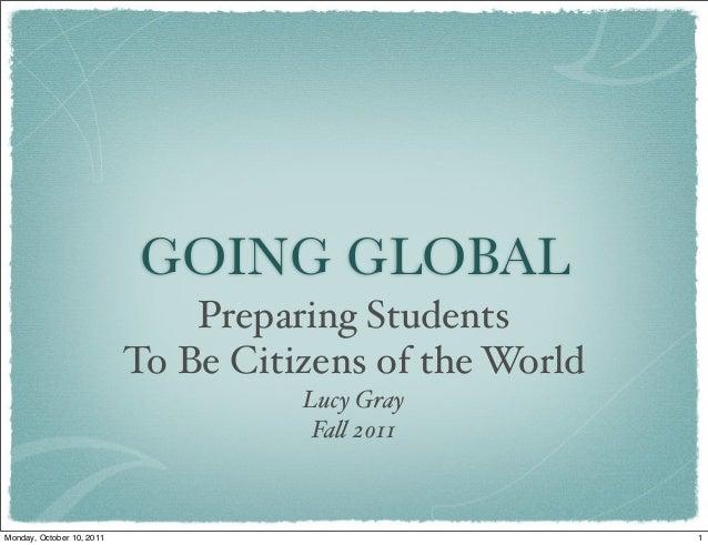 Going Global - Full Version - Fall 2011