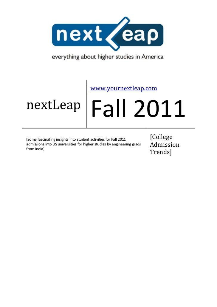 www.yournextleap.comnextLeap                                       Fall 2011[Some fascinating insights into student activi...