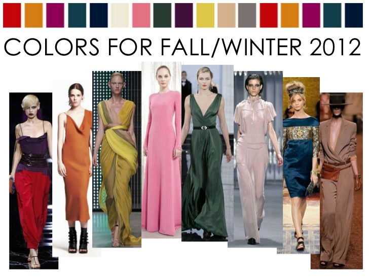 COLORS FOR FALL/WINTER 2012<br />