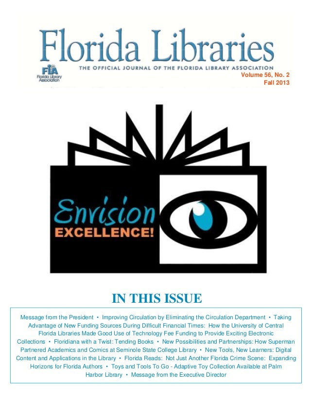 "Fall 2013 Issue of ""Florida Libraries"""