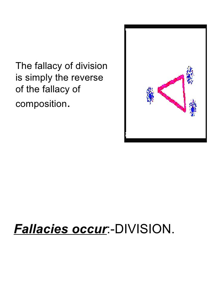 fallacies of equation and division Mathematical fallacy - division by zero however, as already noted the step in line 5, when the equation is divided by a − b, is still division by zero.