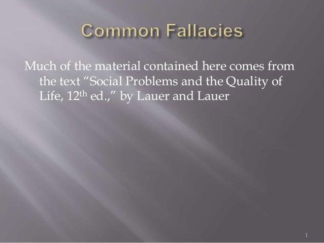 Fallacies (A few common ones)
