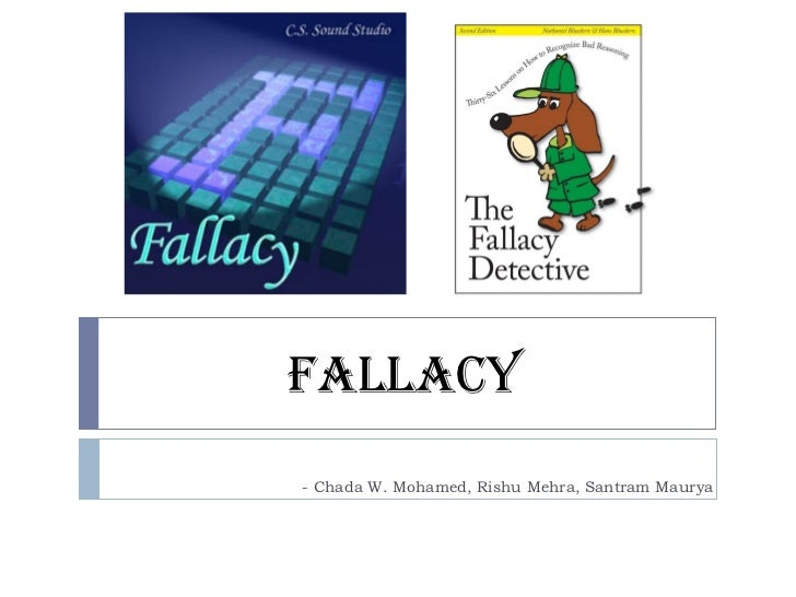 fallacious reasoning essays