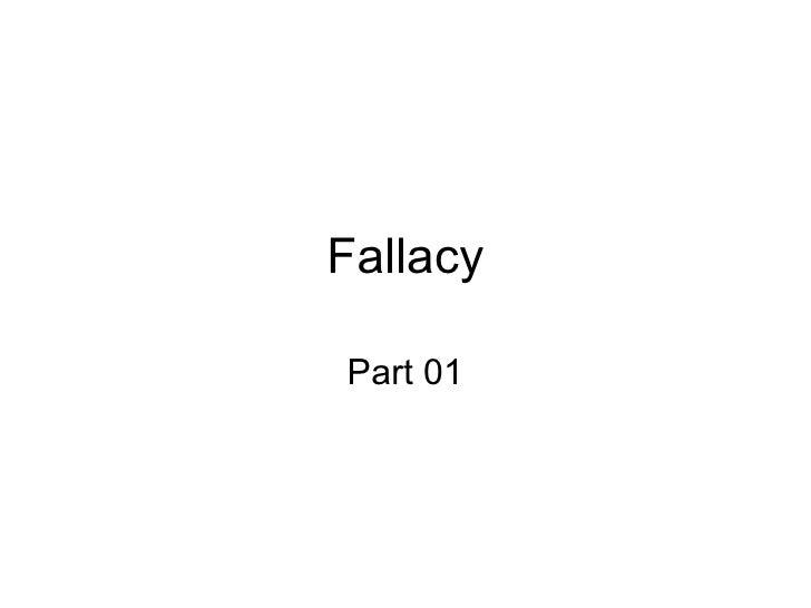 Fallacyslidess