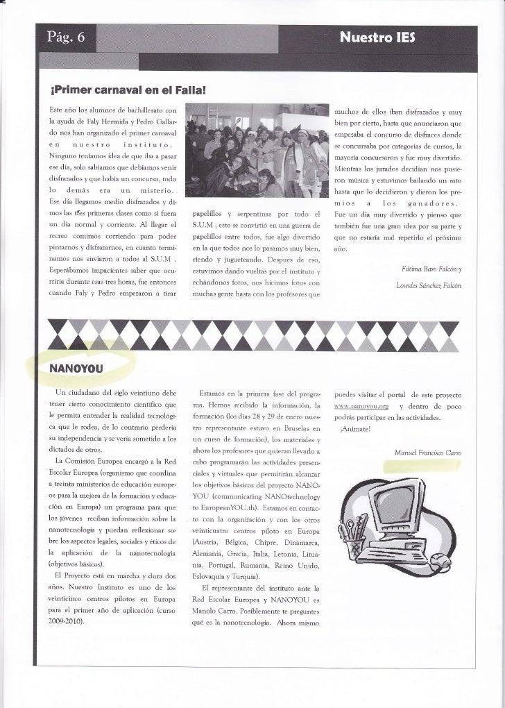 Nanoarticle in school magazine