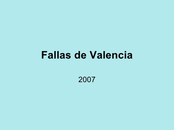 Fallas 2007