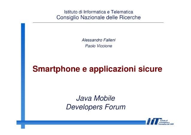 Falleni Security in mobile JMDF Second Meeting