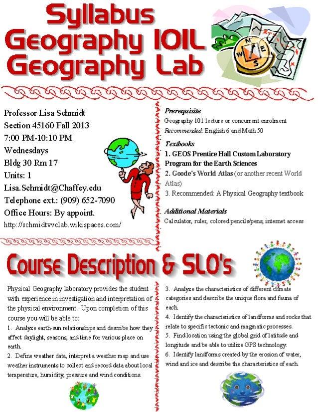 Fall geog lab syllabus 2013