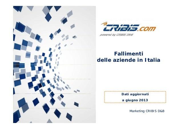 Fallimenti delle aziende in Italia - Giugno 2013