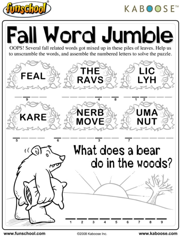Fall jumble