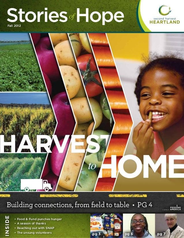 Second Harvest Heartland - Newsletter - Fall 2012