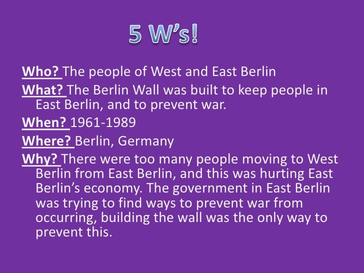 Who Built The Berlin Wall 1961 The Berlin Wall Was Built to