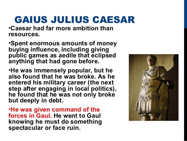 an analysis of julius caesars political and military career Learn more about leader julius caesar julius caesar was assassinated by political rivals on the ides of caesar began his career in politics as a prosecuting.