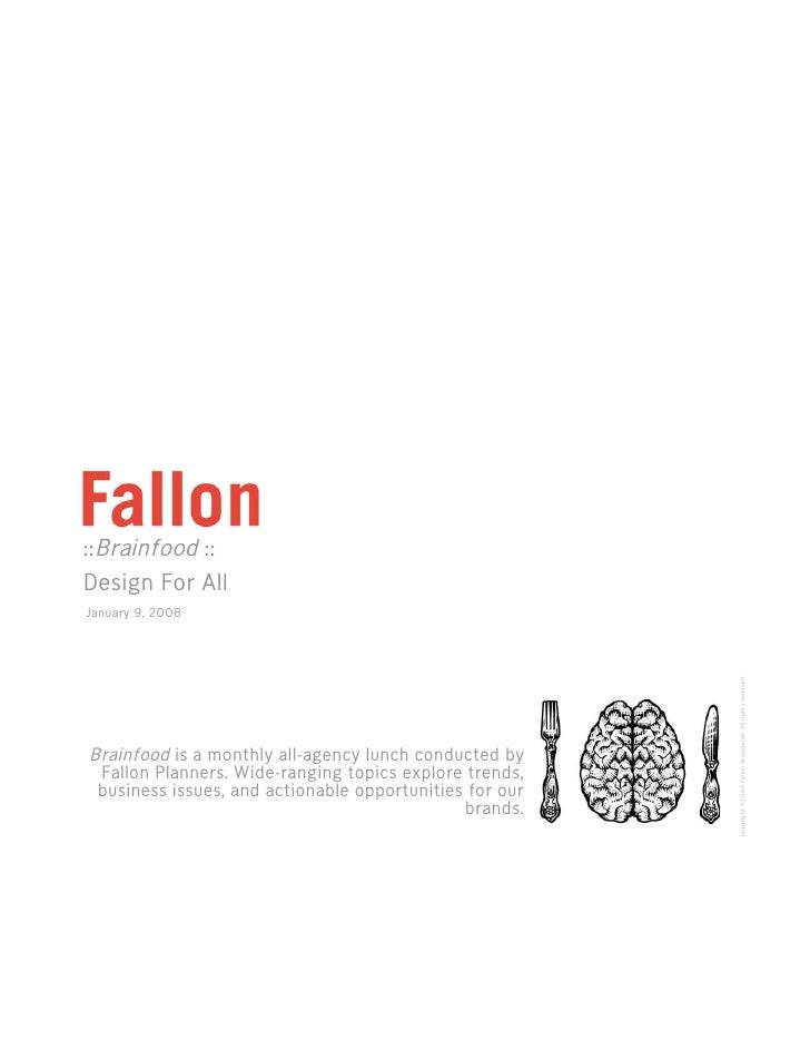 Fallon Brainfood: Design For All