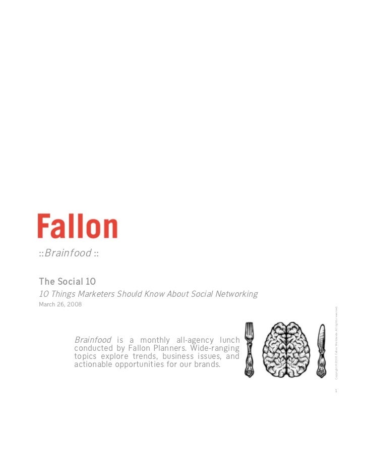 Fallon Brainfood: The Social 10