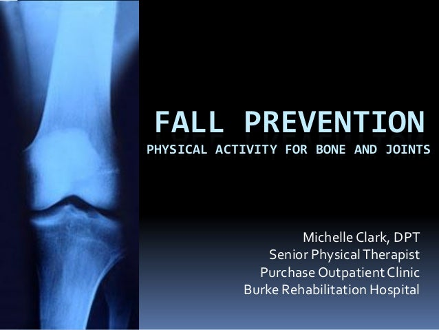 FALL PREVENTIONPHYSICAL ACTIVITY FOR BONE AND JOINTS                     Michelle Clark, DPT                Senior Physica...