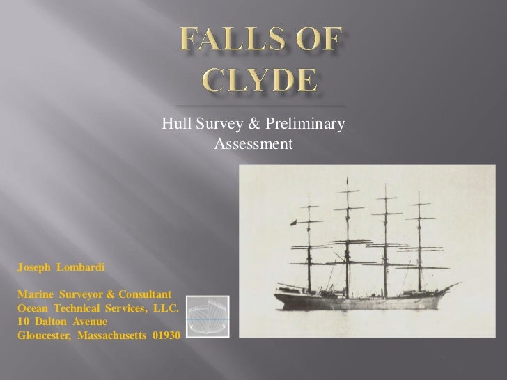 Falls Of Clyde, Project Management, 2008