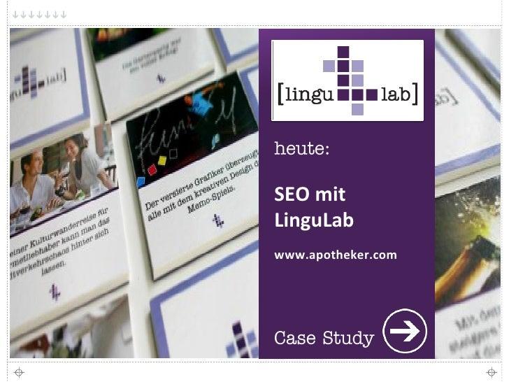 SEO mit LinguLab www.apotheker.com