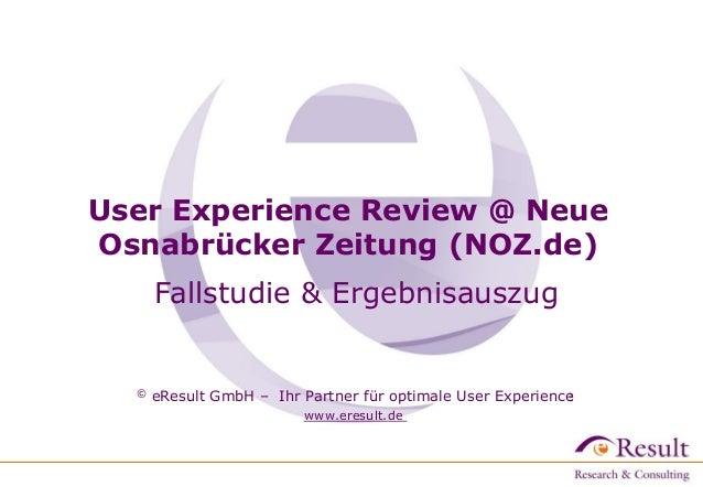 © eResult GmbH – Ihr Partner für optimale User Experience www.eresult.de © eResult GmbH – Ihr Partner für optimale User Ex...