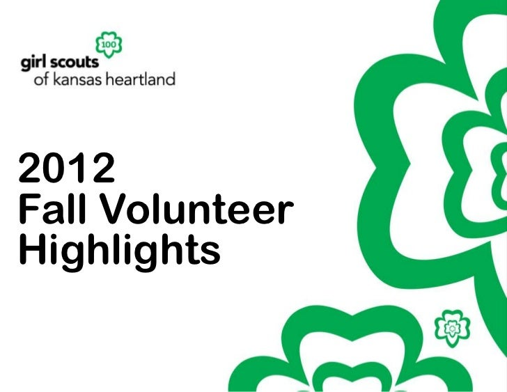 2012Fall VolunteerHighlights