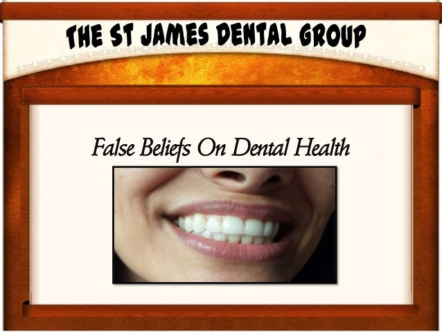 False Beliefs On Dental Health