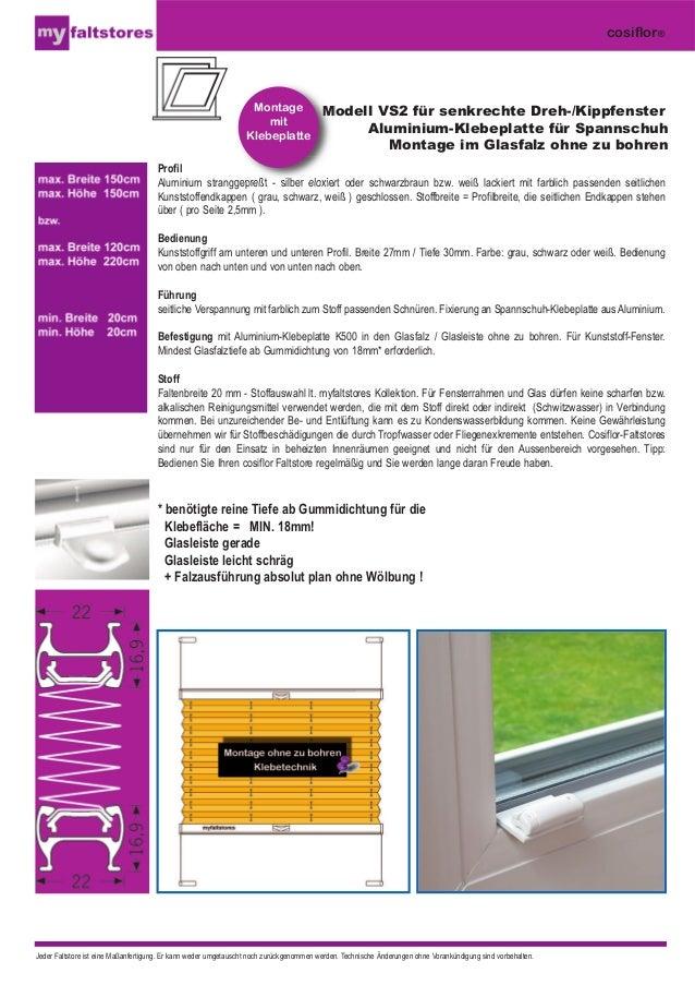 Modell VS2 für senkrechte Dreh-/Kippfenster  Aluminium-Klebeplatte für Spannschuh  Montage im Glasfalz ohne zu bohren  Pro...