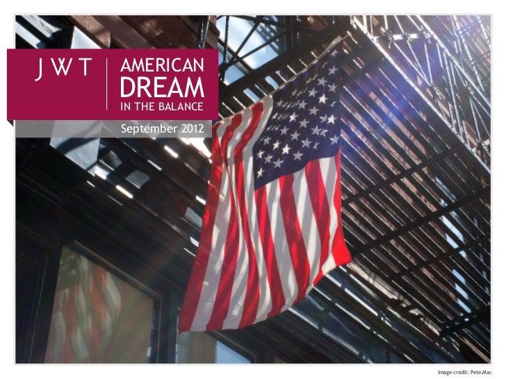 American Dream in the Balance (September 2012)