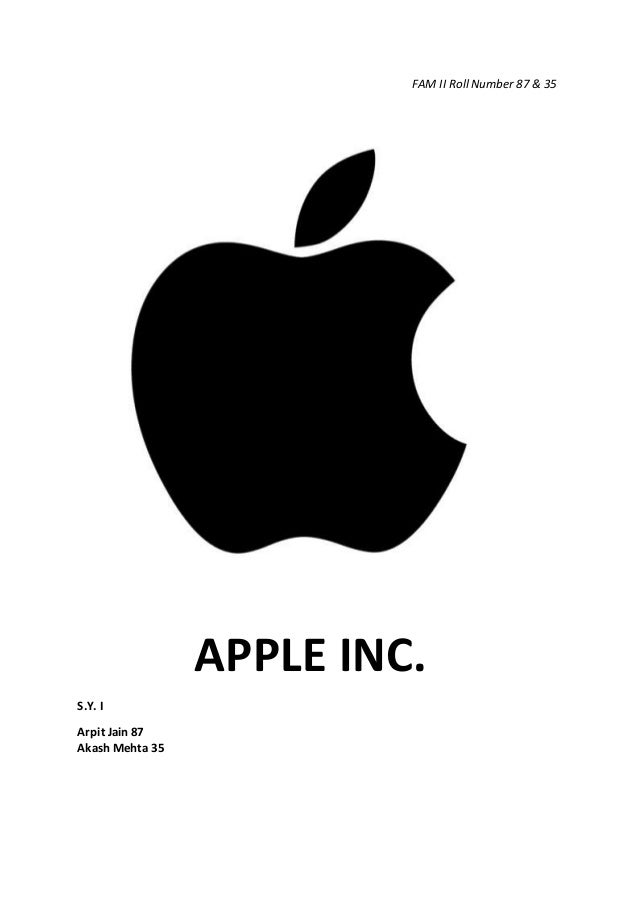 Apple, Inc.: Financial Ratio Analysis