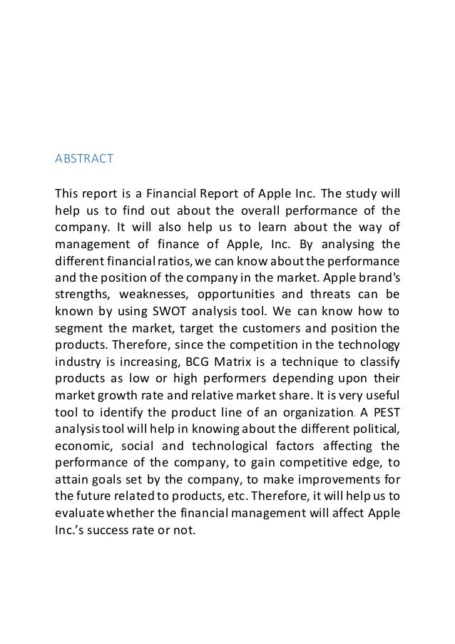 apple inc analysis of financial statement essay Get the detailed quarterly/annual income statement for apple inc (aapl) find out the revenue, expenses and profit or loss over the last fiscal year.